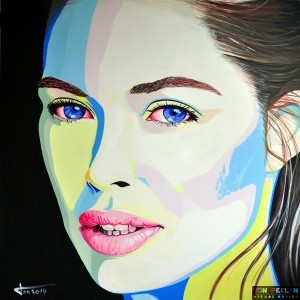 Doutzen Kroes by Dutch artist Ton Peelen