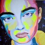 Portrait of Emily Didonato, painting by Dutch ArtistTon Peelen