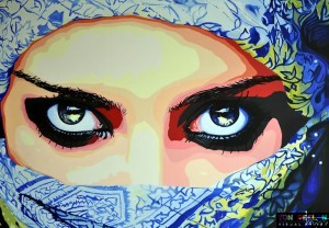 Arabian Beauty, painting by Dutch artist Ton Peelen