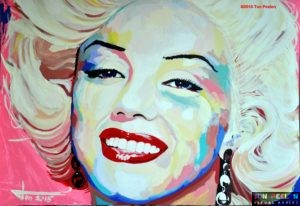 Painting of Marilyn Monroe by Dutch Artist Ton Peelen