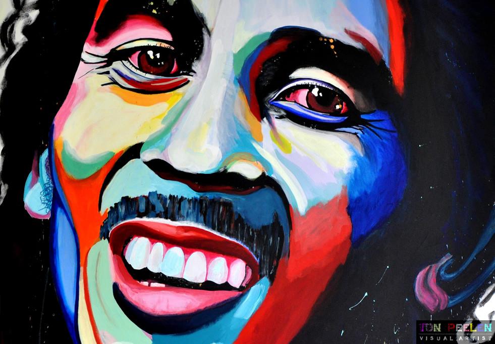 portrait of Bob Marley by Dutch artist Ton Peelen