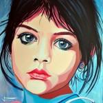 "Painting ""India Child"" by Dutch artist Ton Peelen"