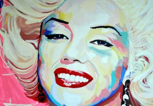 Portrait Marilyn Monroe by Ton Peelen