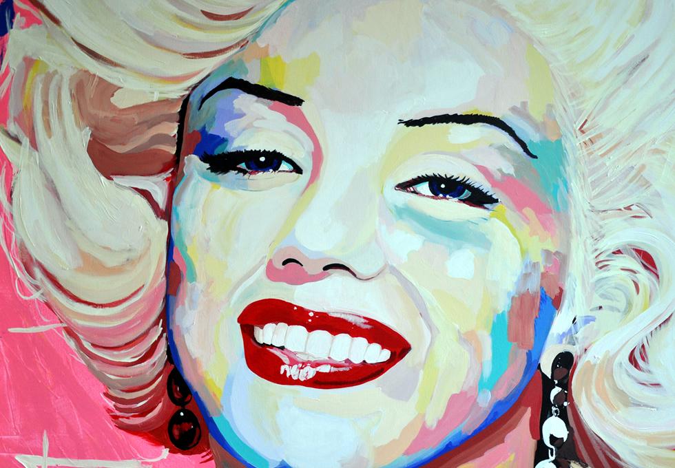 Portrait Marilyn Monroe by Ton Peelen