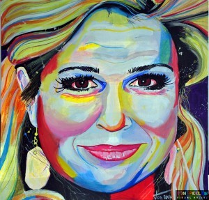 Painting Queen Maxima of the Netherlands