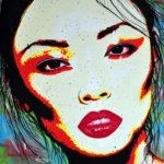 Portrait of Alice Ma, painting by Dutch Artist Ton Peelen
