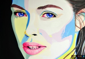 portrait of Doutzen Kroes by Dutch artist Ton Peelen