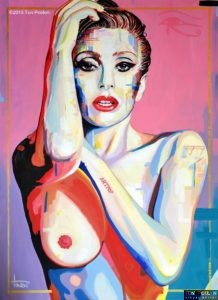 Lady Gaga by Dutch artist Ton Peelen