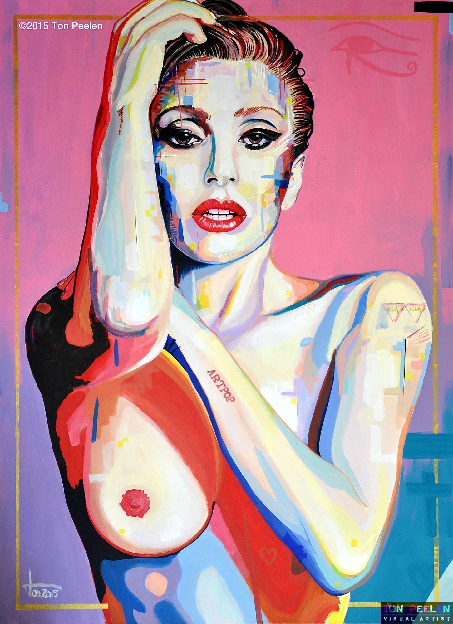 Lady Gaga by Dutch artist Ton Peelen