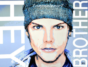 Avicii Painting by Ton Peelen